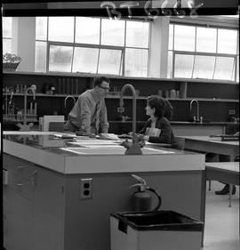 BCVS image of Basic Training Skills Development (BTSD) instructor talking with two students in th...