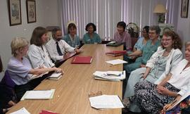 Health part-time, Hemodialysis, St. Paul's Hospital, meeting, people around a large table [5 of 7...