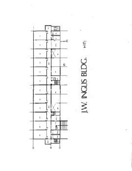 NE01 (formerly Bldg. 1 J.W. Inglis Bldg,) 4th floor,  floor plan, ca. 1980s