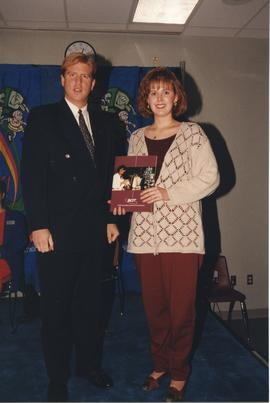 BCIT Alumni Entrance Award, October 19, 1994; Angela Strelive, presented by Mr. Bill MacPherson, ...