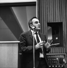 CVA Convention, 1969 ; man standing and talking at a microphone