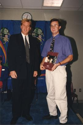 BCIT Alumni Entrance Award, October 19, 1994; Shawn Burchett, presented by Mr. Bill MacPherson, V...
