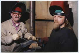 BCIT Welding Trades - Steel Trades 1992 - instructor Al Wood [3 of 9 photographs]