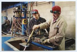BCIT Welding trades steel trades 1992 [6 of 9 photographs]