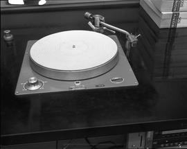 British Columbia Institute of Technology Broadcasting ; 1960s ; a record player