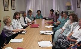 Health part-time, Hemodialysis, St. Paul's Hospital, meeting, people around a large table [7 of 7...