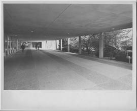 British Columbia Institute of Technology - Burnaby campus - exterior photograph of breezeway outs...