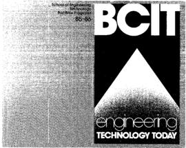 Part-time calendar 1985-86 Engineering: BCIT Engineering Technology Today