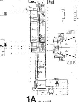 SW03, SW05, Facilities inventory Burnaby, formerly building 1A 1967 building, floor plan, March 1...