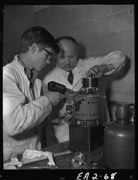 BC Vocational School image of an instructor and student working together in the Appliance Servici...