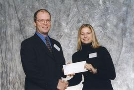 BCIT Alumni Association Entrance Awards, Oct. 27, 1999; Jennifer Winsemann, presented by Kazamir ...