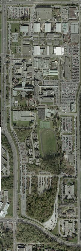 Orthophotograph of all of BCIT Burnaby campus, 2004