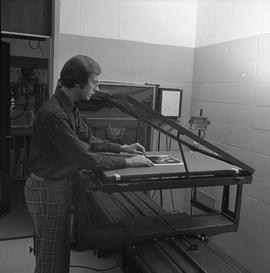 BCVS Graphic arts ; man using graphics equipment