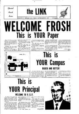 The Link Newspaper 1967-09-08