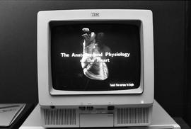 IVD - The anatomy and physiology of the heart - image of program on monitor [1 of 2 photographs]