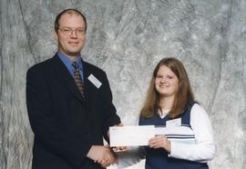 BCIT Alumni Association Entrance Awards, Oct. 27, 1999; Kerri Giesbrecht, presented by Kazamir Fa...