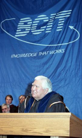 Robert (Bob) George receiving an Honorary Doctorate of Technology; Elder Advisor, BCIT [16 of 19 ...