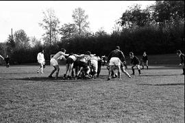 BCIT's Cougar Rugby sports team playing a game on the BCIT sports field. BCIT Recreation [9 of 11...