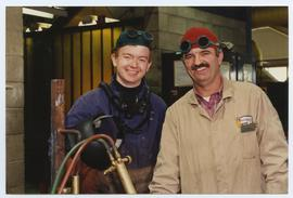 BCIT Welding Trades - Steel Trades 1992 - instructor Al Wood [8 of 9 photographs]