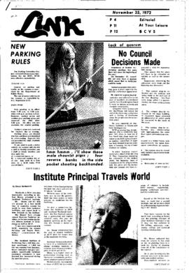 The Link Newspaper 1972-11-23