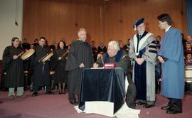 Robert (Bob) George receiving an Honorary Doctorate of Technology; Elder Advisor, BCIT [8 of 19 p...