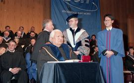 Robert (Bob) George receiving an Honorary Doctorate of Technology; Elder Advisor, BCIT [13 of 19 ...