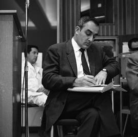 CVA Convention, 1969 ; man sitting and writing notes