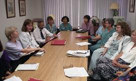 Health part-time, Hemodialysis, St. Paul's Hospital, meeting, people around a large table [6 of 7...