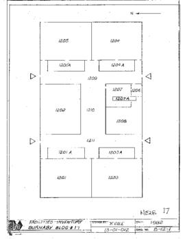 NE28, Facilities inventory Burnaby Bldg. no. 17, floor plan, 1982