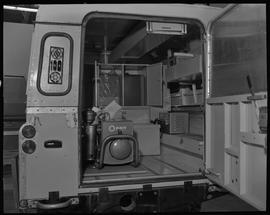 Sheet metal, 1967; inside of the truck from BCVS students for British Columbia Youth Salute Guyan...