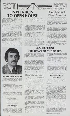 BCIT Alumni Association Newsletter 1977 The Tie