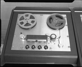 British Columbia Institute of Technology Broadcasting ; 1960s ; Ampex reel-to-reel tape recorder