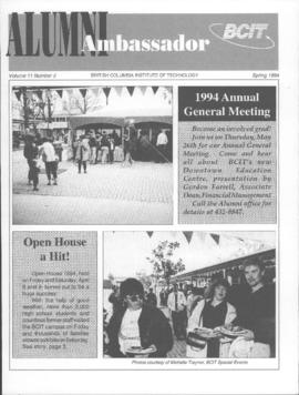 BCIT Alumni Association Newsletter 1994 Spring Alumni Ambassador