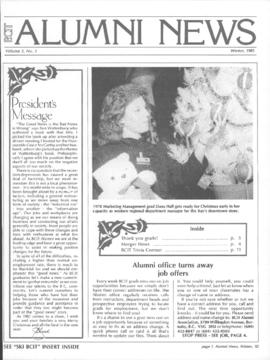 BCIT Alumni Association Newsletter 1985 Winter BCIT Alumni News