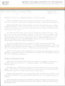 BCIT Developments, vol. 4, no. 4, 1975-04-14