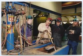 BCIT Welding Trades - Steel Trades 1992 - instructor Al Wood [5 of 9 photographs]
