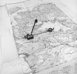 BCIT Programs Forestry Technology ; distance measuring  ruler on a map