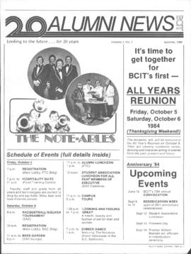 BCIT Alumni Association Newsletter 1984 Summer Alumni News