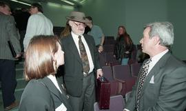 Venture students meet Tony Parsons, April 1995 [9 of 12 photographs]