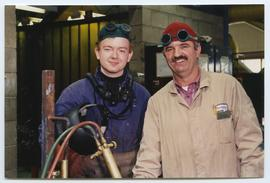 BCIT Welding Trades - Steel Trades 1992 - instructor Al Wood [9 of 9 photographs]