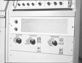 British Columbia Institute of Technology Broadcasting ; 1960s ; speaker and control panel