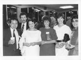 BCIT Alumni Association AGM 1988; group of alumni posing for a photograph