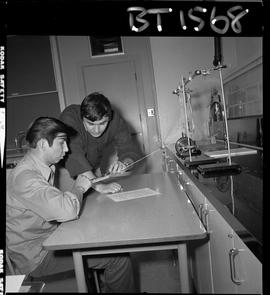 B.C. Vocational School image of an instructor and student in a BTSD Basic Training program labora...