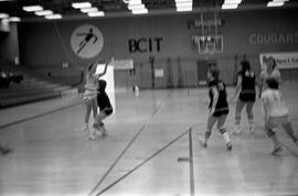 BCIT women's team competing in the National College Basketball Championships in the BCIT Gymnasiu...
