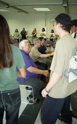 "First Nations ""Honoring Our Heritage"" event, people shaking hands in order [5 of 6 phot..."